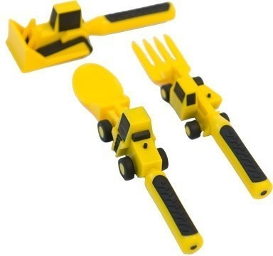 bulldozer pusher, fork lift fork, and front loader spoon