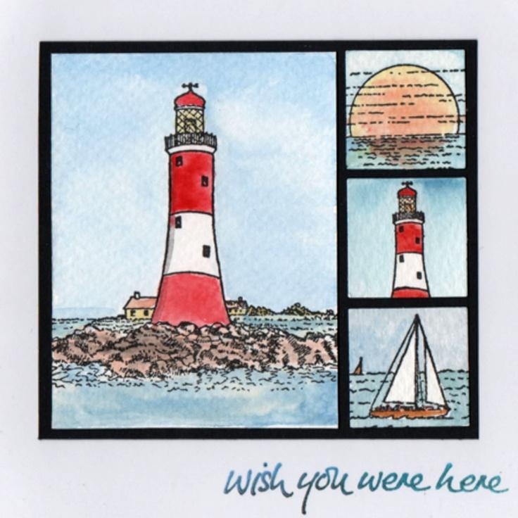 Handmade Seaside Card made by Jenny Mayes