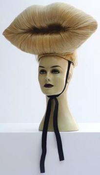 CHARLIE LE MINDU - Blonde Lips - 2009: Showstudio Headwear, Charli Le, Le Mindu, Blondes Lipschar, Diy Headwear, Blonde Lips, Lipschar Le, Headwear Exhibitions, Hair Lips