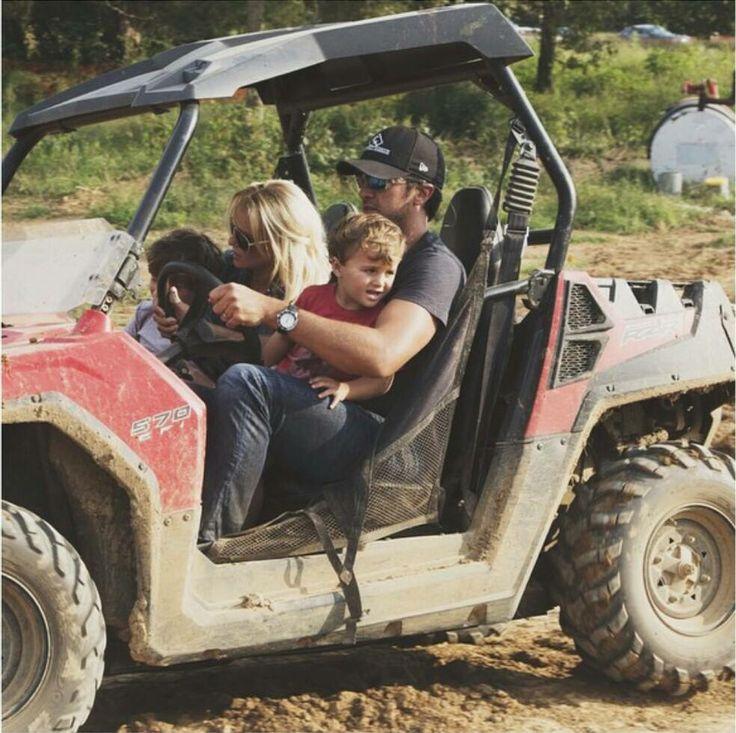 Luke & Caroline Bryan with Sons Bo & Tate                                                                                                                                                     More