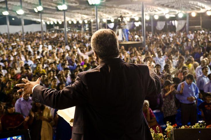 Church service led by Rev. Sam P. Chelladurai in AFT church, Chennai.