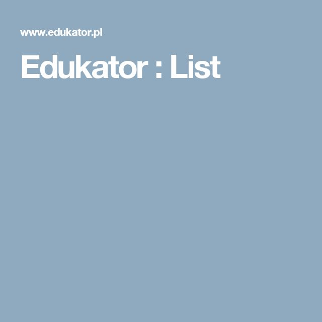Edukator : List