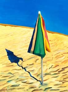 David Hockney beach umbrella