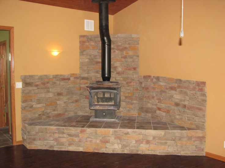 85 best wood stove hearths images on pinterest wood for Wood burning fireplace construction