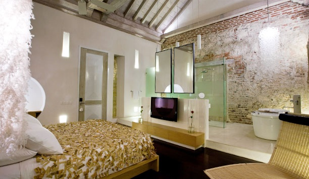 Tcherassi Hotel + Spa: In Ziberline rooms, exposed brick, cool hotel rooms