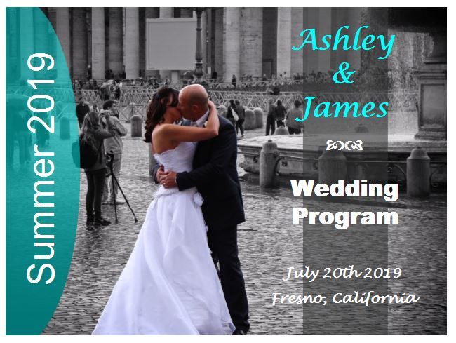 Free wedding program fan with picture
