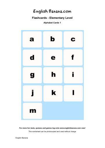 Alphabet Cards 1 | English Banana