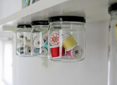 Under shelf storage. How neat is this?!