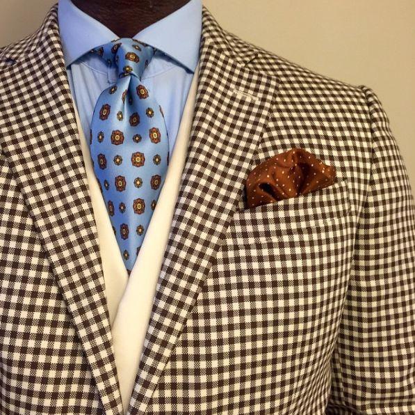 Designer Emblem Patterned Silk Tie