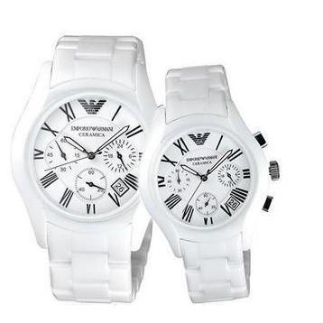 Couple Ceramic Watch From Emporio Armanies AR1403 & AR1404