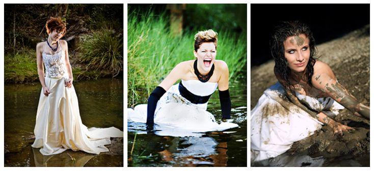 Заказываем у фотографа на свадьбу фотосъемку в стиле трэш