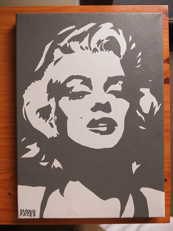 Marilyn Monroe painting hand painted acrylic piece by MONOFACES, €110.00