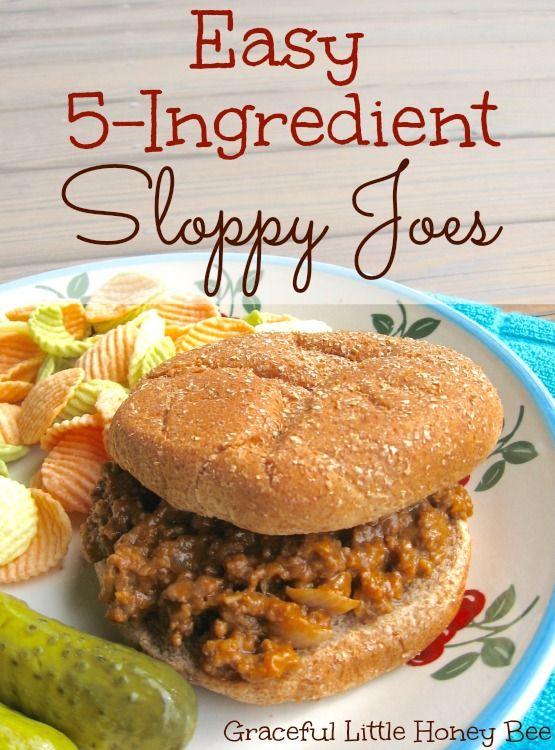 Easy 5-Ingredient Sloppy Joes