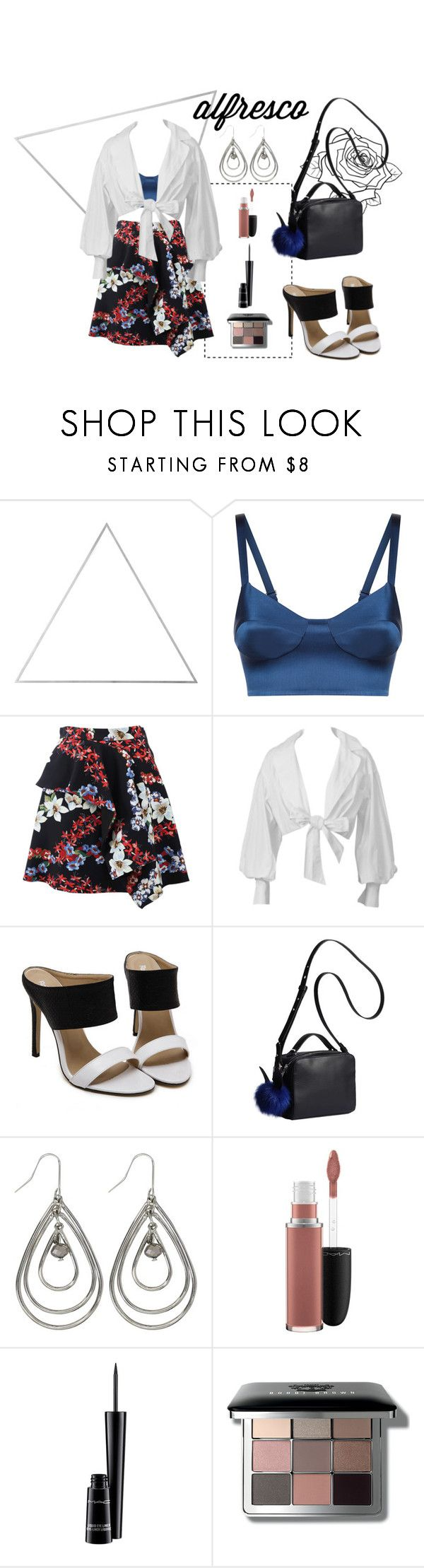 """Alfresco Dinner"" by zesirgenci ❤ liked on Polyvore featuring Menu, MSGM, Montana, Kendall + Kylie, M&Co, MAC Cosmetics and Bobbi Brown Cosmetics"