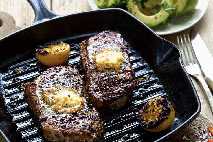Peppered Sirloin Served with Habanero Butter - Make delicious beef recipes easy, for any occasion