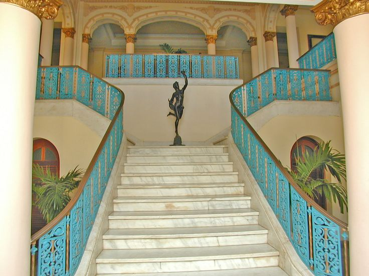 Grand Staircase in Club Habana, Havana, Cuba