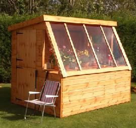 Garden shed and Mini Greenhouse - OR children's playhouse and greenhouse combo!