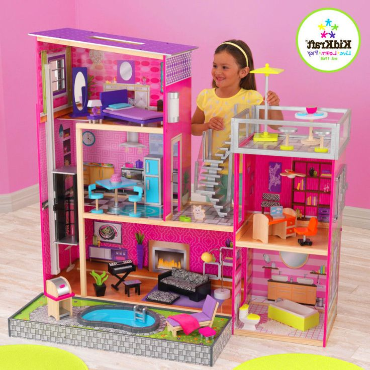 1000 Images About Kidkraft And Wooden Dollhouses And Furniture On Pinterest Barbie Furniture