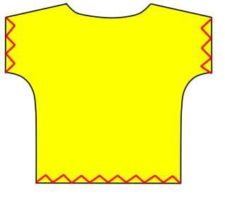 カンタンTシャツ 型紙いらず!ザクザク切って縫うだけ。あなたも半日で服が作れます!