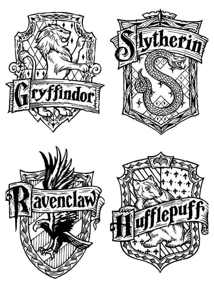 Harry Potter Haus Embleme Baugruppen Harry Haus Topfer Coole Spruche Baugruppen Coole Harry Potter Sketch Harry Potter Drawings Harry Potter Journal