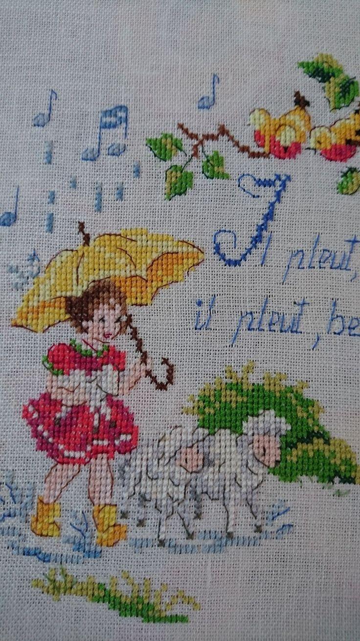 雨降り☂️羊飼いのお嬢さん☂️