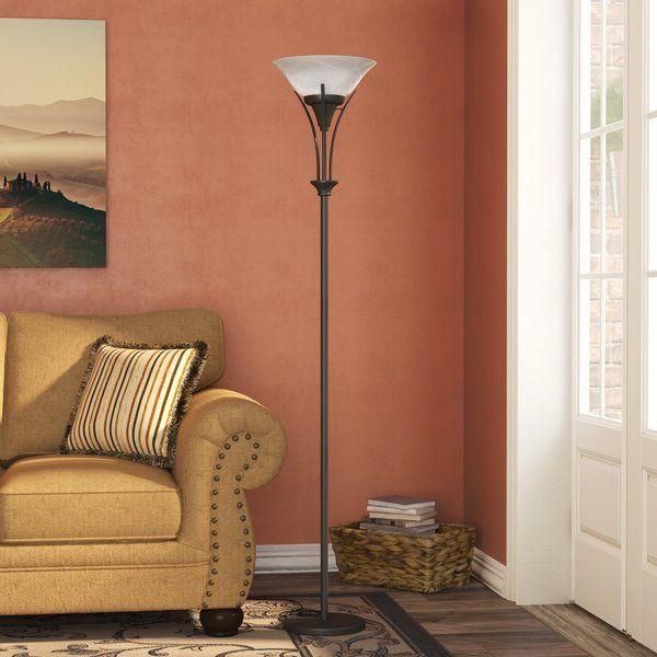 Fleur De Lis Living Berau 71 Torchiere Floor Lamp Lamps
