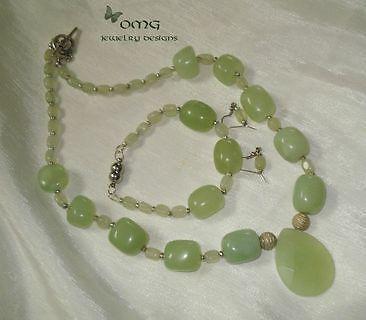 Jade Set (Necklace, Bracelet, Earrings)