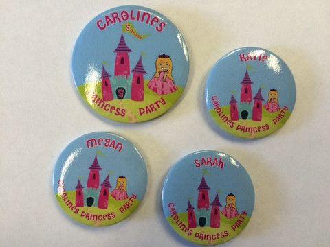 Personalised Birthday Party Badge Sets - Princess and Pirates – London Emblem