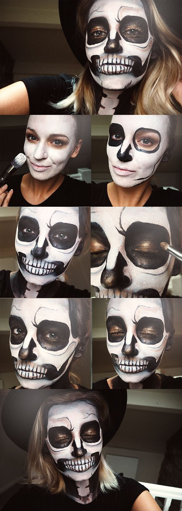 Glitter Skull Halloween Makeup