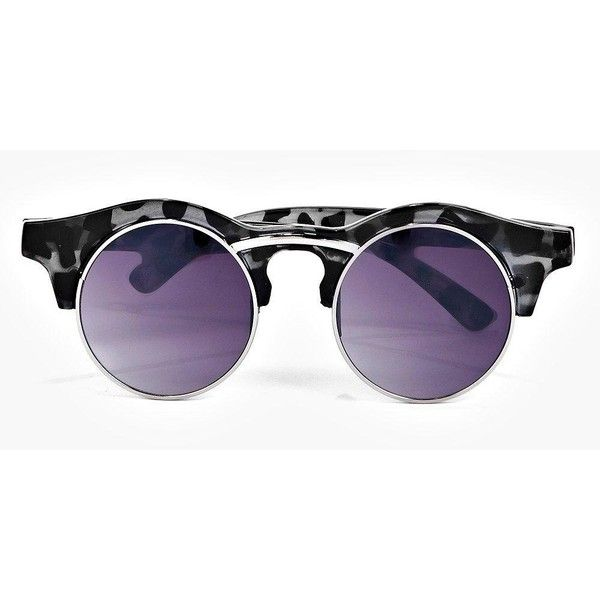 Boohoo Ava Round Tortoise Sunglasses ($10) ❤ liked on Polyvore featuring accessories, eyewear, sunglasses, grey, oversized sunglasses, cateye sunglasses, round tortoiseshell sunglasses, oversized round sunglasses and retro round sunglasses