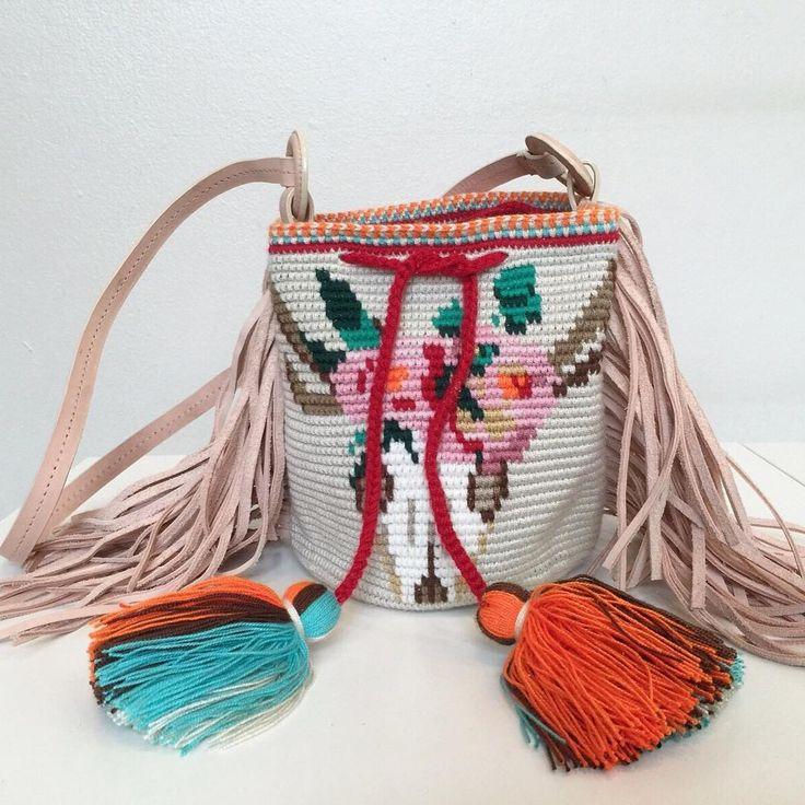 Wayuu Mochila bag animal Skull