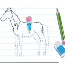 14 best cheval images on pinterest - Apprendre dessiner cheval ...