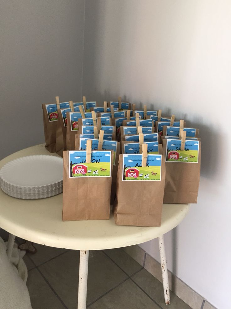 Party favour bags barnyard party