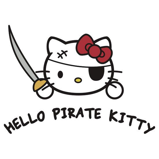 pirate hello kitty coloring pages - photo#7