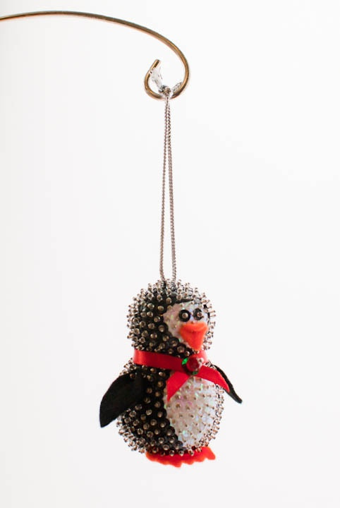 Sequin and bead Christmas ornament