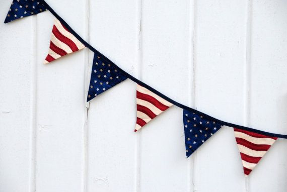 Rustic American Flag  Red White and Blue Pennant by LifeScooped, $23.00
