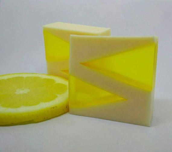 Jabón de miel y limón Jabón de glicerina Jabón ecológico
