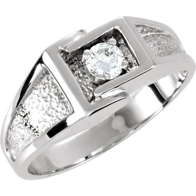 14kt White Gold 4.1mm Round Gents Ring...(ST9172:8667:P).! Price: $429.99 #14kt #whitegold #gold #ring