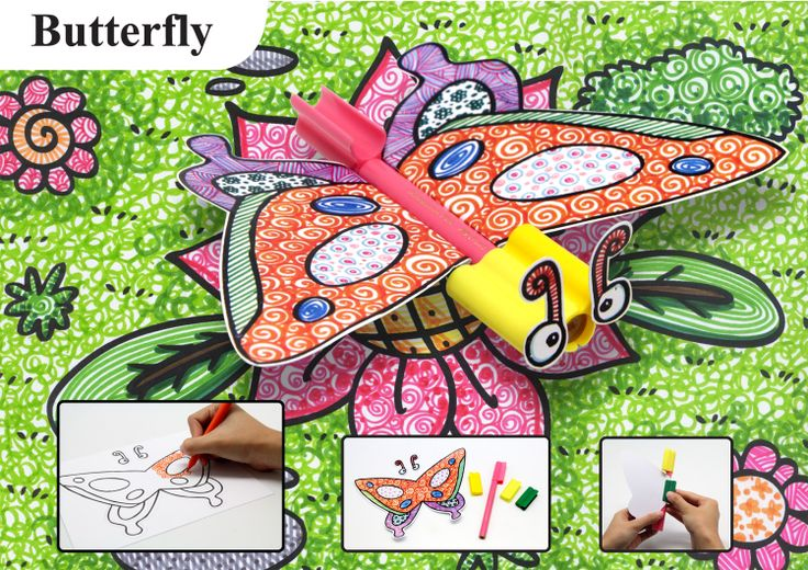 Butterfly craft with connector pen