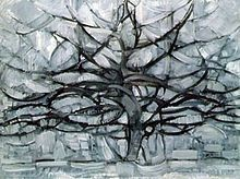 Piet Mondrian, Gray Tree, 1912, an early experimentation with Cubism