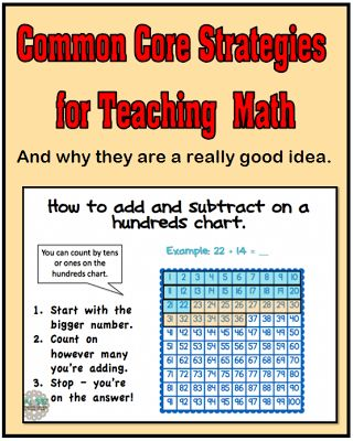 Common Core Strategies for Teaching Math...and why they are a good idea.
