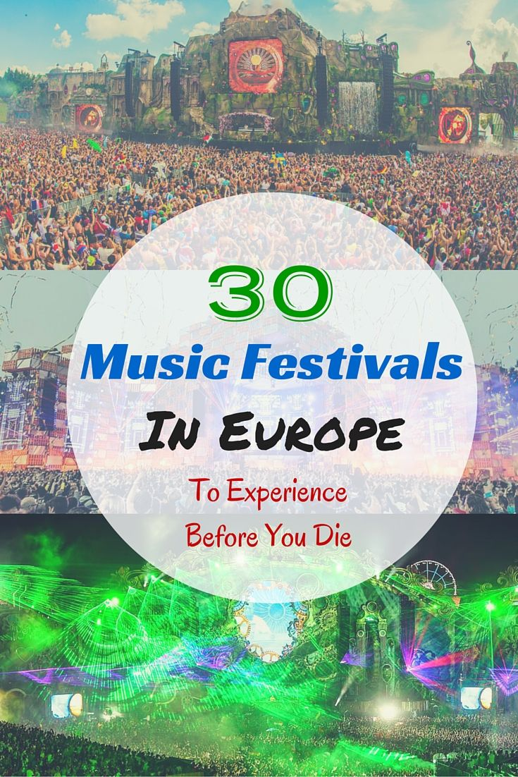 When it comes to the best music festivals in the world, Europe definitely reigns supreme.  Tomorrowland, Glastonbury, SONAR Sensation, Creamfields, EXIT, and so many more!! Read all about it here: http://www.jonesaroundtheworld.com/30-music-festivals-in-europe-to-experience-before-you-die/