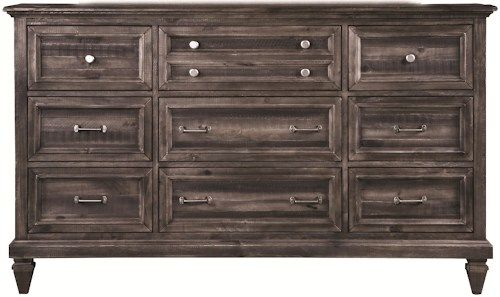Magnussen Home Benton 9-Drawer Dresser with Felt-Lined Top Drawers