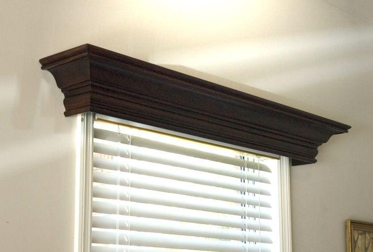 White Wood Cornice : Ashton custom wood cornice windows white and