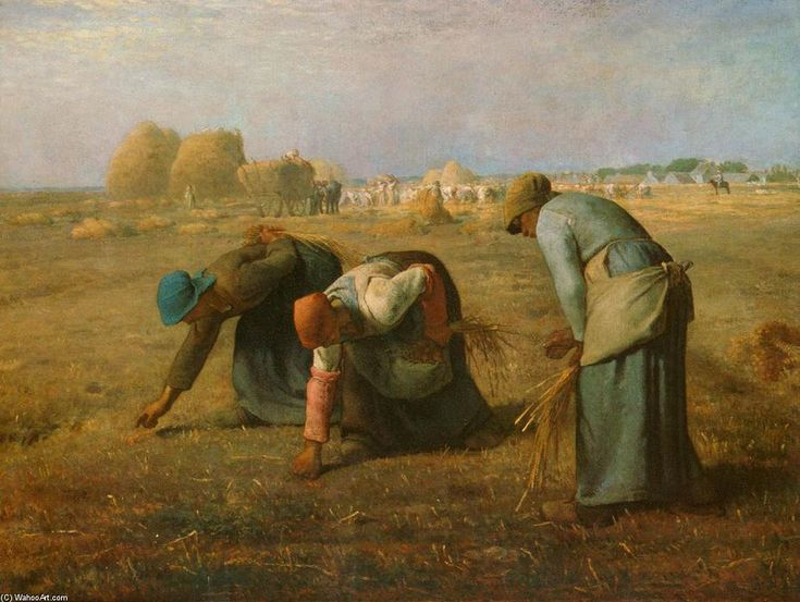 The Gleaners (2), Oil On Canvas by Jean-François Millet (1814-1875, France)