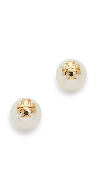 Tory Burch Swarovski Imitation Pearl Stud Earrings | SHOPBOP SAVE UP TO 25% Use Code: EOTS17