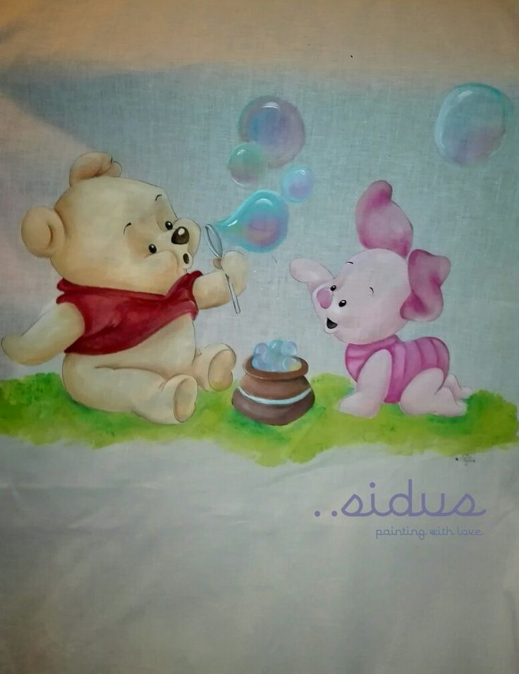 Copripiumino di Winnie the pooh  dipinto a mano, baby