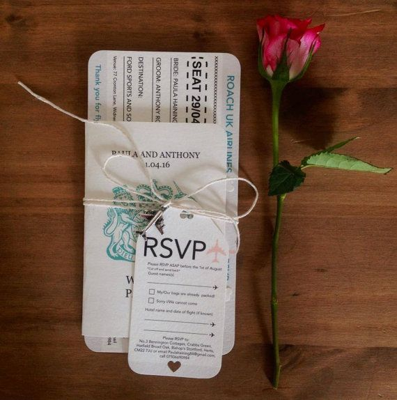 Wedding Boarding Pass and Passport by CANDYFLOSSCREATIONS1