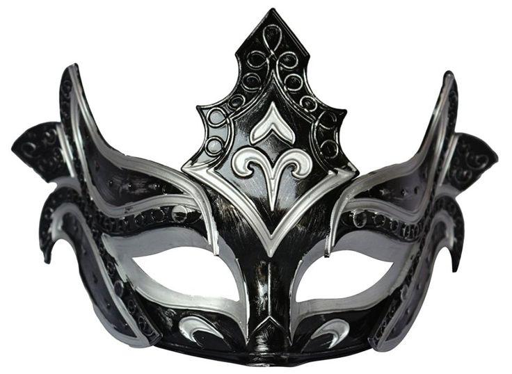 Mens Masquerade Mask Party Mask Roman Gladiator Cosplay Halloween Mask Black