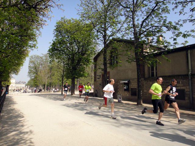 ORGANIZED RUN IN THE JARDIN DU LUXEMBOURG